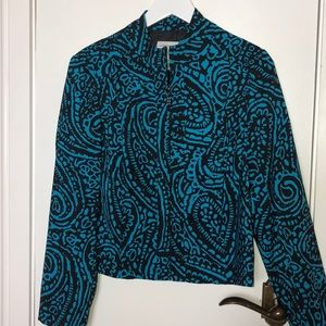Molly & Max petite teal blue and black jacket PS